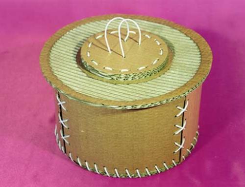 Caja redonda de cartón
