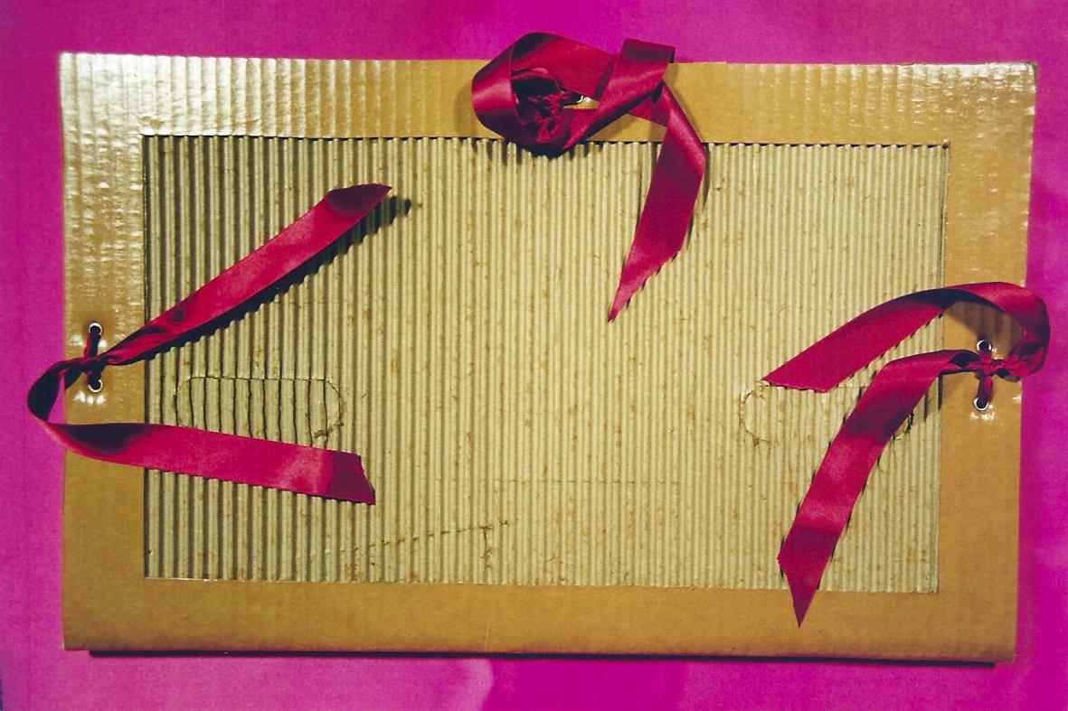 Plantilla Carpeta de dibujo de cartón - Recicla y juega