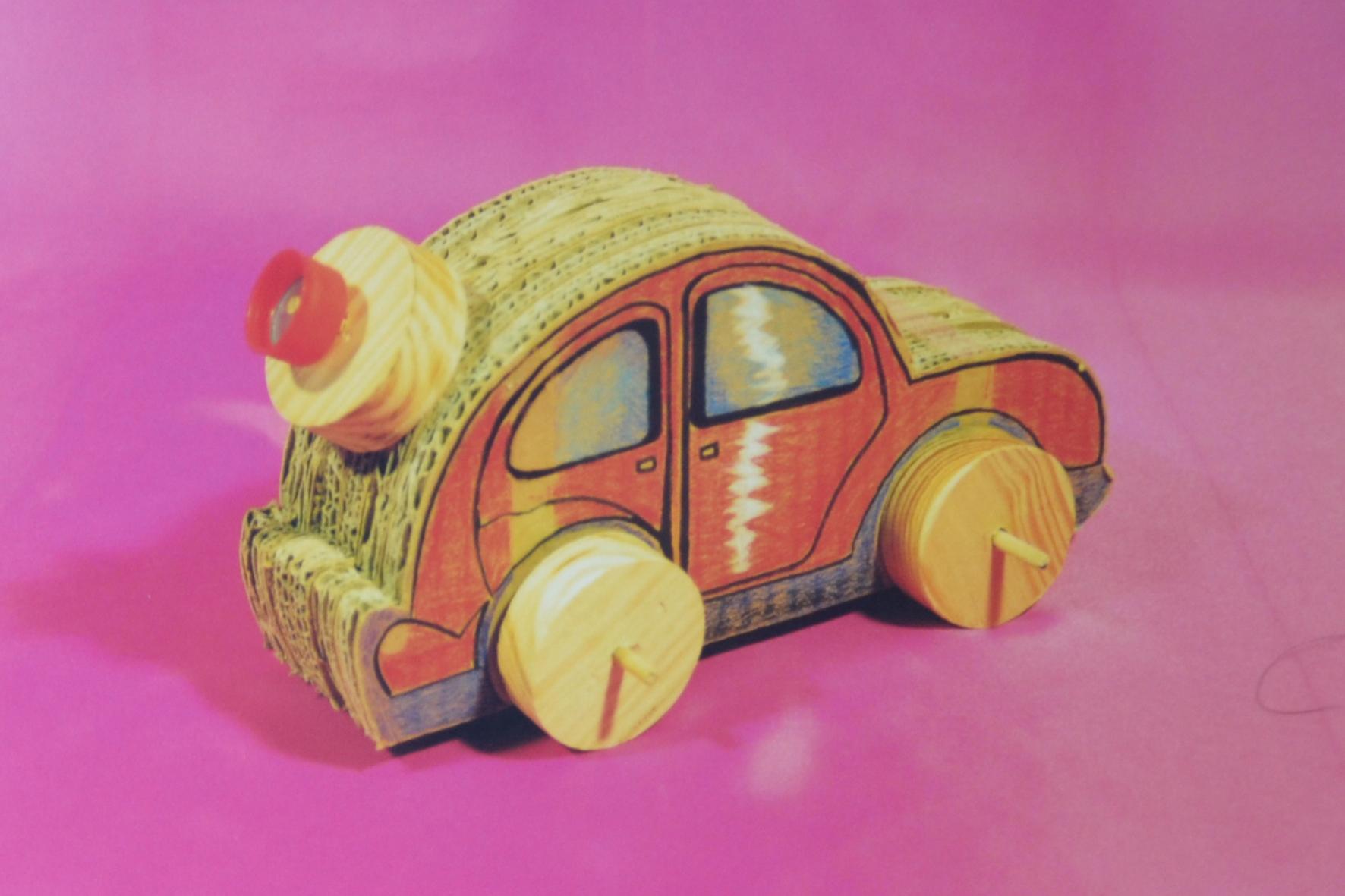 Coche de cartón - Recicla y juega