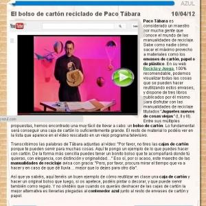 Comentario de Ecoembes sobre Paco Tábara