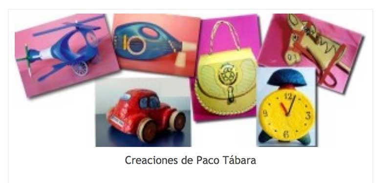 Paco Tábara o reciclar y jugar | fotos de algunos trabajos de Paco Tábara