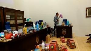 Paco Tábara Exposición de Material didáctico reciclado